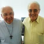 Monsenhor Jonas Abib e padre Guedes