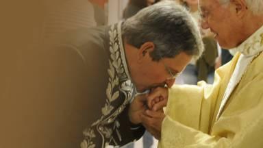 """""""O meu batismo no Espírito Santo eu recebi por uma oração dele"""" - Profº Felipe Aquino"""