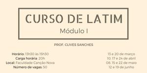 CURSO LIVRE DE LATIM 2018 - MÓDULO I