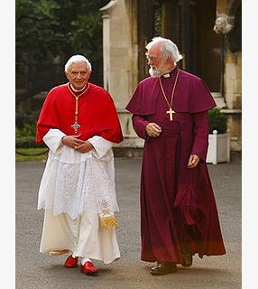 Papa e o Arcebispo da Cantuária